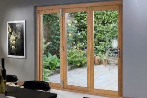 Closed 3 door 1790mm Deluxe Bifold Doors
