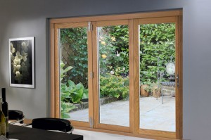 Closed 3 door 2390mm Deluxe Bifold Doors