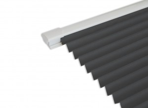Select White 3.0M Bifold doors White trim Blinds in Concrete (Dark Grey)