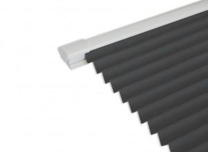 Select White 1.8M Bifold doors White trim Blinds in Concrete (Dark Grey)