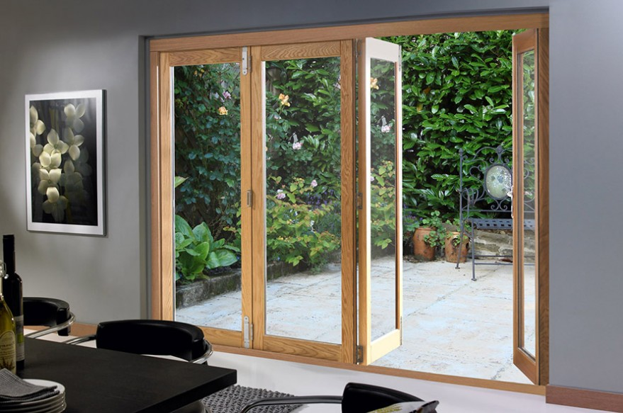 Partly Open 4 door 2990mm Deluxe Bifold Doors