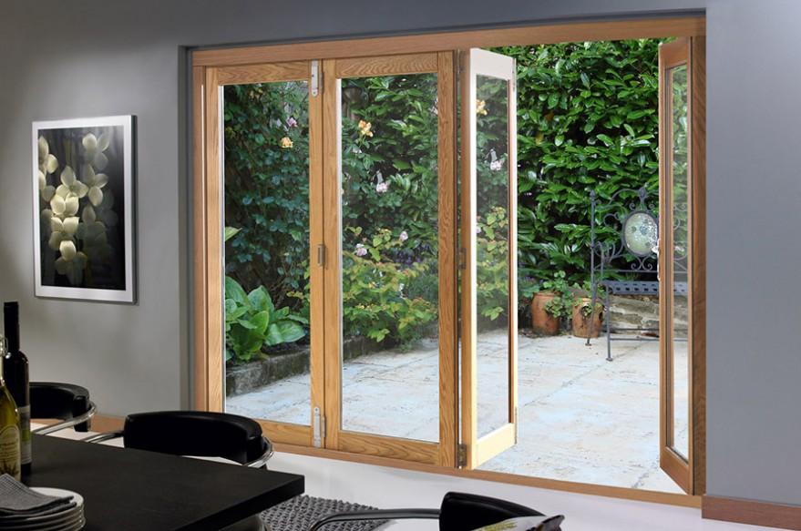 Partly Open 4 door 2990mm Deluxe Bifold Doors