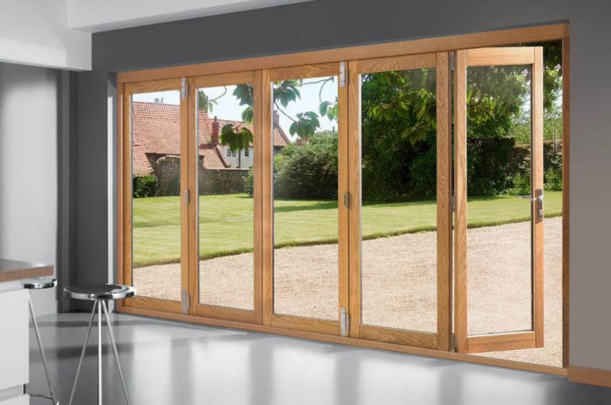 Right Open 5 door 3590mm Deluxe Bifold Doors