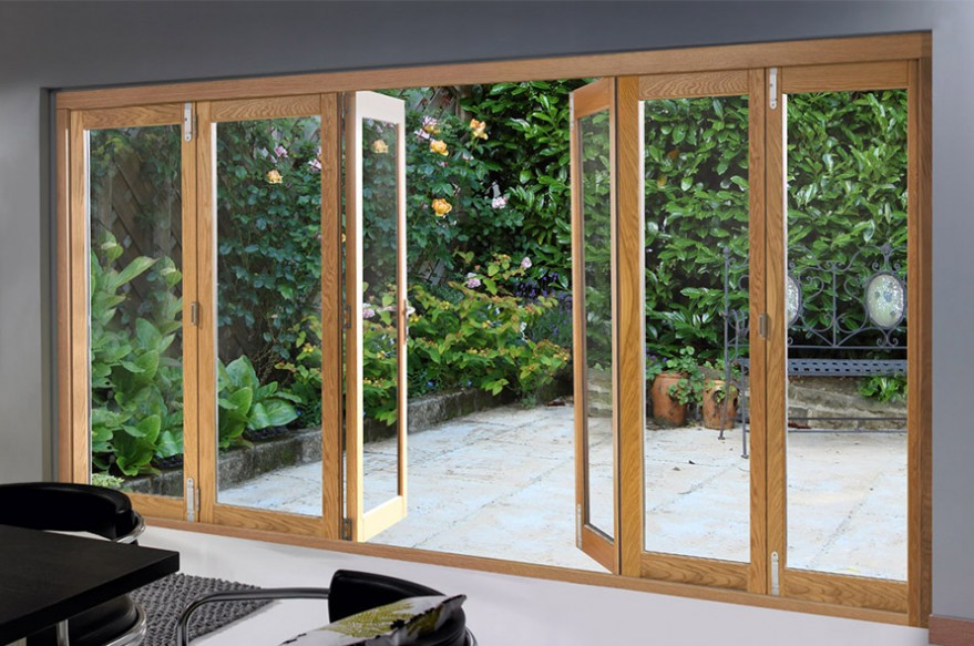 Centre Opening 6 door 4790mm Deluxe Bifold Doors