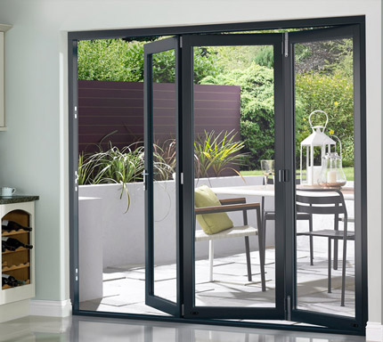 OpenVu Select Grey bi-fold door
